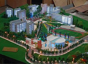 大竹中学建筑模型