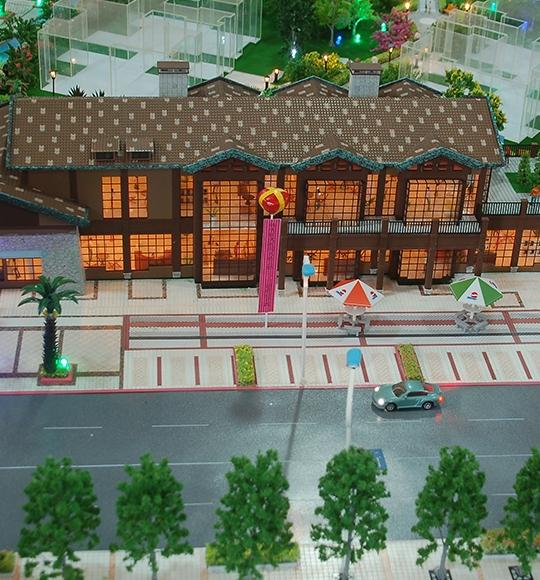 低层商业建筑模型