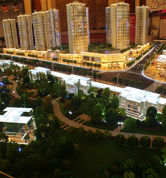 高层小区建筑模型