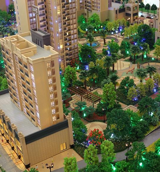 高档豪华小区建筑模型