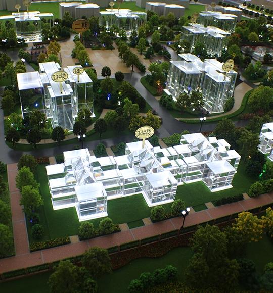升降式小区建筑模型